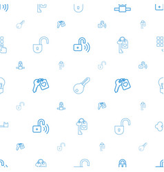 password icons pattern seamless white background vector image
