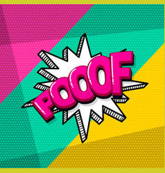 pop art comic text vector image
