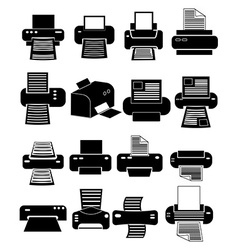 Printer icons set vector image