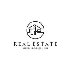 real estate company logo designs vector image