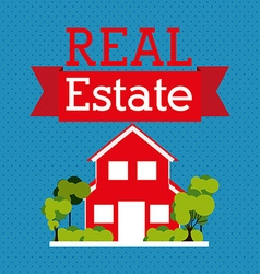 real estate company vector image