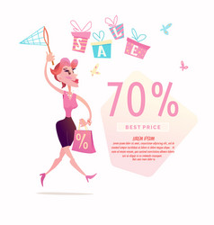 sales in the store vector image