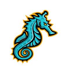 Seahorse mascot vector