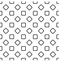 Seamless abstract monochrome rounded square vector