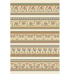 Set of five decorative borders ornamental vector