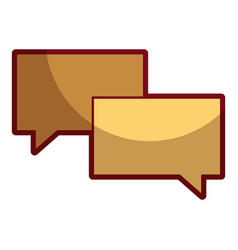 speech bubbles message talk chat icon vector image