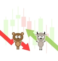 Stock market cartoon vector image