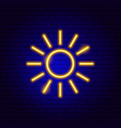 sunny neon sign vector image