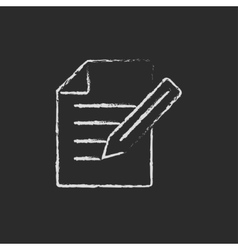 Taking note drawn in chalk vector image