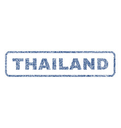 thailand textile stamp vector image