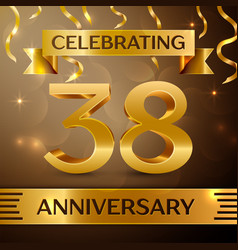Thirty eight years anniversary celebration design vector
