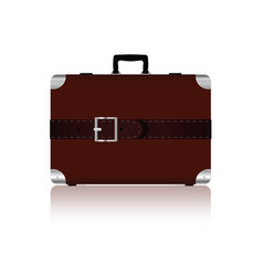 travel bag with belts in brown color five variant vector image