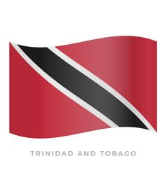 trinidad and tobago waving flag icon vector image