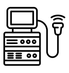Ultrasound machine icon outline style vector