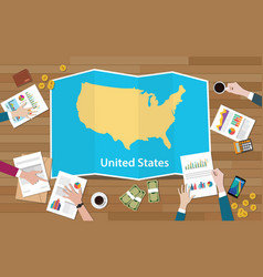 usa united states of america economy country vector image