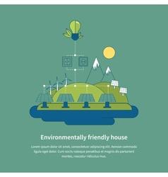 Village landscape Environmentally friendly house vector image