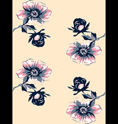 Wallpaper seamless floral vintage background vector image