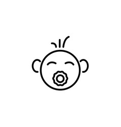 web line icon baby with pacifier black on white vector image