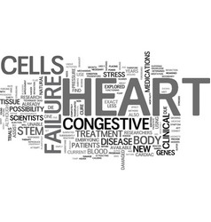 What new therapies for treatment of congestive vector