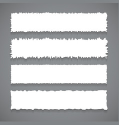 White banners with rough edges vector