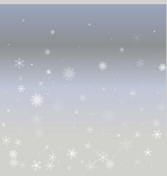 Winter pattern with crystallic snowflakes vector