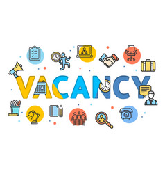 cartoon vacancy concept card poster vector image vector image