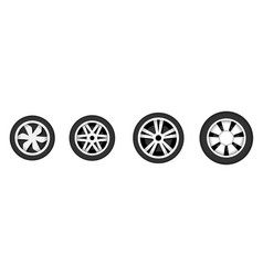 wheel disk with tyre vector image