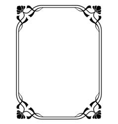 art nouveau decorative frame vector image vector image
