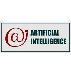 Artificial intelligence emblem vector image