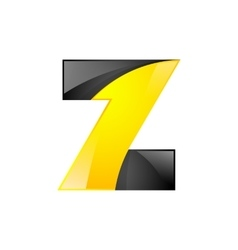 Creative yellow and black symbol letter Z for your vector image