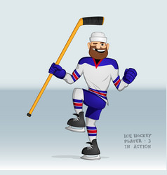ice hockey player happy vector image vector image