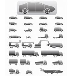 Icon set Vehicles vector image