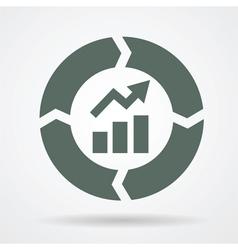 improvement cycle web icon vector image vector image