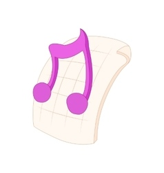 MP3 audio file extension icon cartoon style vector image