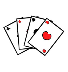 playing cards icon icon cartoon vector image vector image