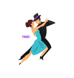professional dancer couple dancing tango pair of vector image vector image