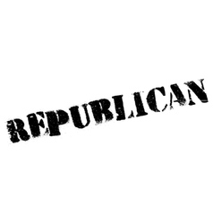 Republican stamp rubber grunge vector image vector image