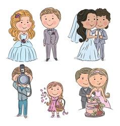 Wedding kids vector image