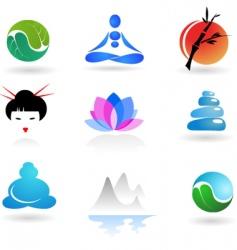 zen and yoga logos vector image vector image