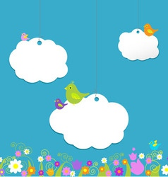 birds on clouds vector image vector image