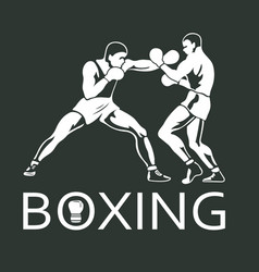 boxing players fighting sportsman games vector image