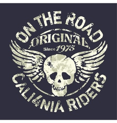 California motorcycle riders team vector image