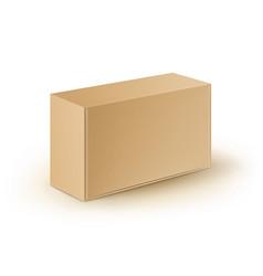 Cardboard take away box for sandwich food vector