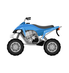 off road motorbike isolated icon in flat design vector image