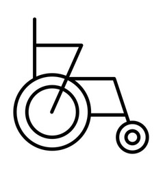 wheelchair line icon simple 96x96 pictogram vector image