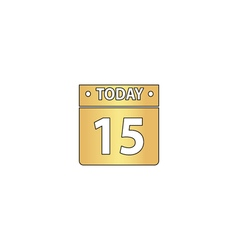 Calendar computer symbol vector