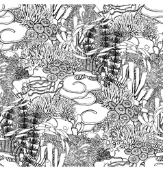 Coral reef pattern vector image