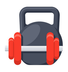 dumbbell and kettlebell vector image