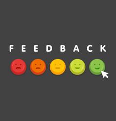 feedback emoticon emoji smile icon buttons with vector image vector image