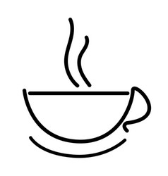 hot coffee cup icon outline drawing vector image vector image